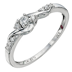 Cherished Silver & Diamond Ring - Product number 8673268
