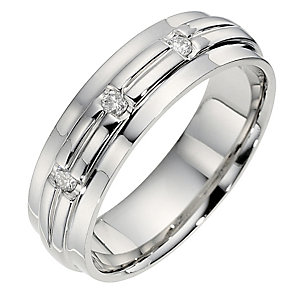 Men's Palladium Diamond Wedding Ring - Product number 8674272