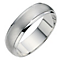 Silver Matt & Polished Finish 6mm Court Ring - Product number 8676011
