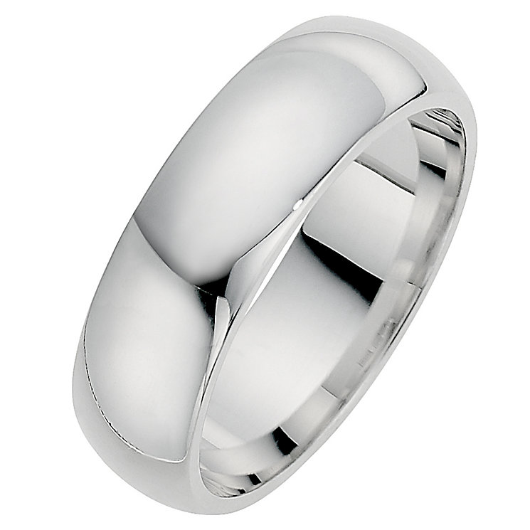 Silver Super Heavyweight 7mm Court Ring - Product number 8676488
