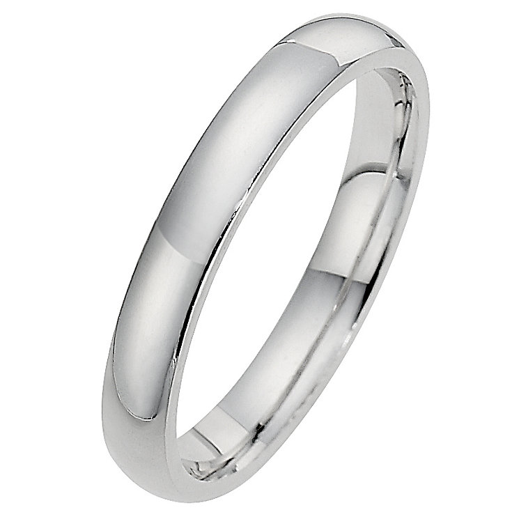 Silver Super Heavyweight 3mm Court Ring - Product number 8676828