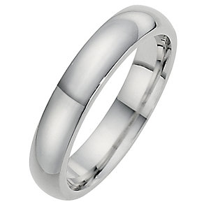 Silver Super Heavyweight 4mm Court Ring - Product number 8677069