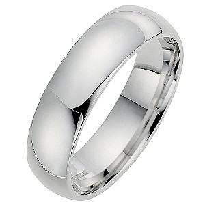Silver Super Heavyweight 6mm Court Ring