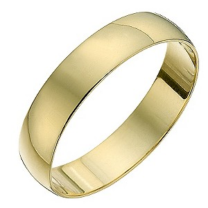 18ct Yellow Gold 4mm D Shape Heavyweight Ring