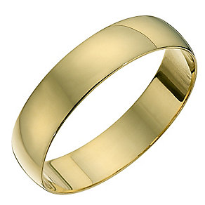 18ct Yellow Gold 5mm D Shape Heavyweight Ring - Product number 8678162