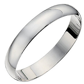 18ct White Gold 3mm D Shape Heavyweight Ring - Product number 8679010