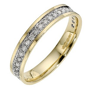 9ct Yellow Gold Quarter Carat Eternity Ring