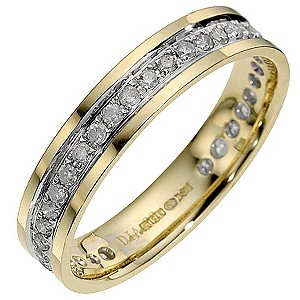 9ct Yellow Gold Third Carat Eternity Ring