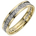 9ct Yellow Gold Third Carat Eternity Ring - Product number 8680248