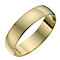 9ct yellow gold D shape 5mm heavy wedding ring - Product number 8681155