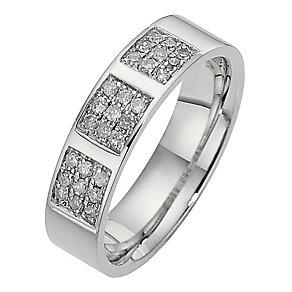 Men's 9ct White Gold 1/4 Carat Diamond Ring - Product number 8682275