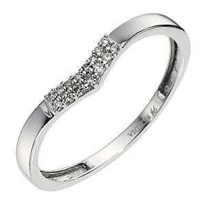 9ct White Gold Shaped Diamond Ring - Product number 8685096