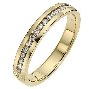 18ct Yellow Gold 15pt Diamond Eternity Ring