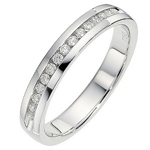 18ct White Gold 0.15 Carat Channel Set Diamond Ring