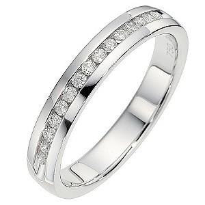 18ct White Gold 0.15 Carat Channel Set Diamond Ring