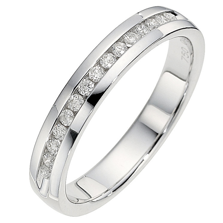 18ct White Gold 0.15 Carat Channel Set Diamond Ring - Product number 8686416