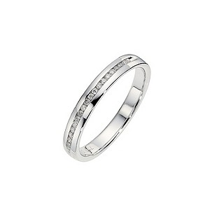 18ct White Gold Quarter Carat Channel Set Diamond Ring