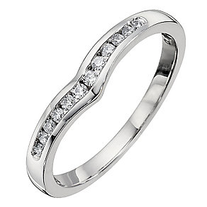 18ct White Gold Diamond Set Shaped Ring - Product number 8687072