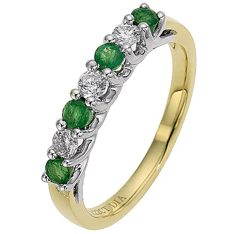 18ct yellow gold emerald