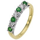 18ct yellow gold emerald & diamond ring - Product number 8689482