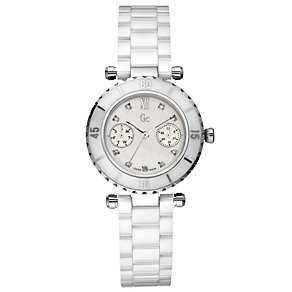 GC ladies' mother of pearl dial white ceramic bracelet watch - Product number 8691002