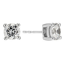 18ct white gold 1.75 carat diamond stud earrings - Product number 8691738