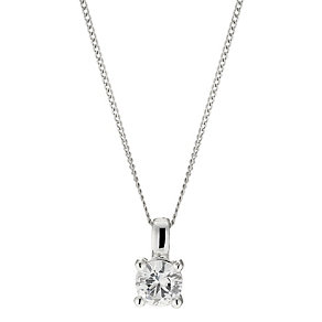 18ct white gold half carat diamond pendant - Product number 8691754