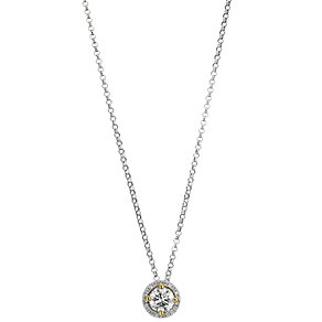 18ct white gold 0.56 carat lemon diamond pendant - Product number 8692572