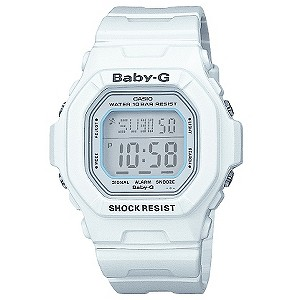 Baby-G White LCD World time Digital Watch