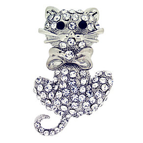 Crystal Cat Brooch - Product number 8694214