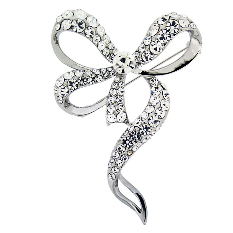 Crystal Bow Brooch - Product number 8694273