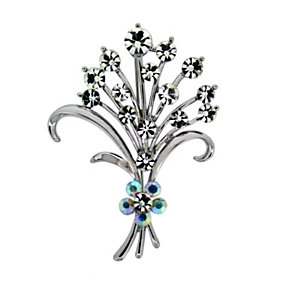Crystal Flowers Brooch - Product number 8694281