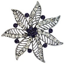 Amethyst Crystal Flower Brooch - Product number 8694397