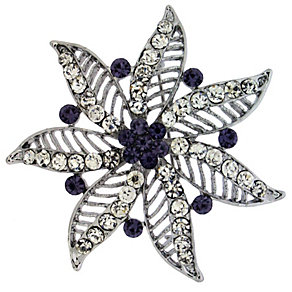 Amethyst Crystal Flower Brooch - Product number 8694397