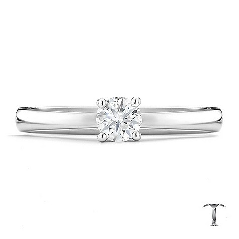 Tolkowsky 18ct white gold HI SI2 1/4 carat diamond ring