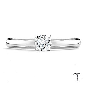 Tolkowsky 18ct white gold HI S12 1/3 carat diamond ring - Product number 8697728