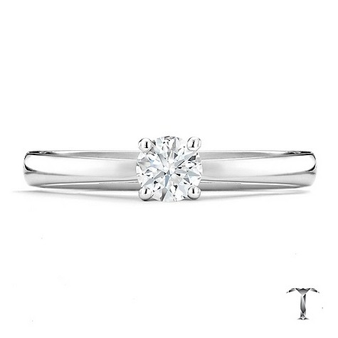 Tolkowsky 18ct white gold HI S12 1/3 carat diamond ring