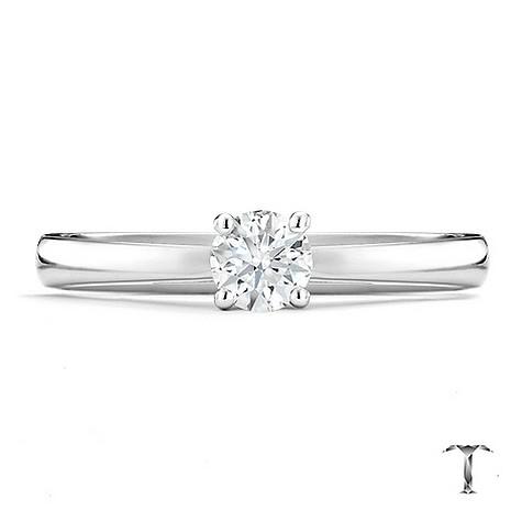 Tolkowsky 18ct white gold HI S12 1/3 carat diamond ring