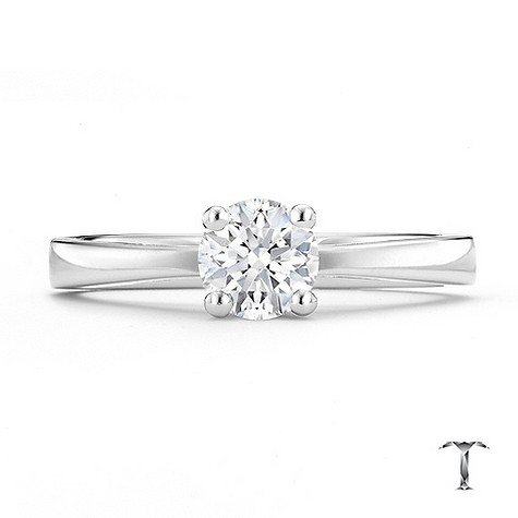 Tolkowsky 18ct white gold HI S12 1/2 carat diamond ring