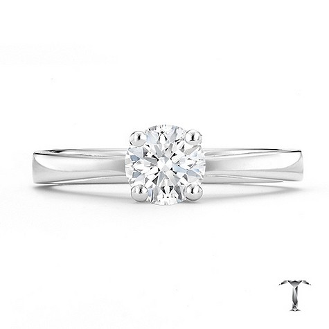 Tolkowsky 18ct white gold HI SI2 2/3 carat diamond ring