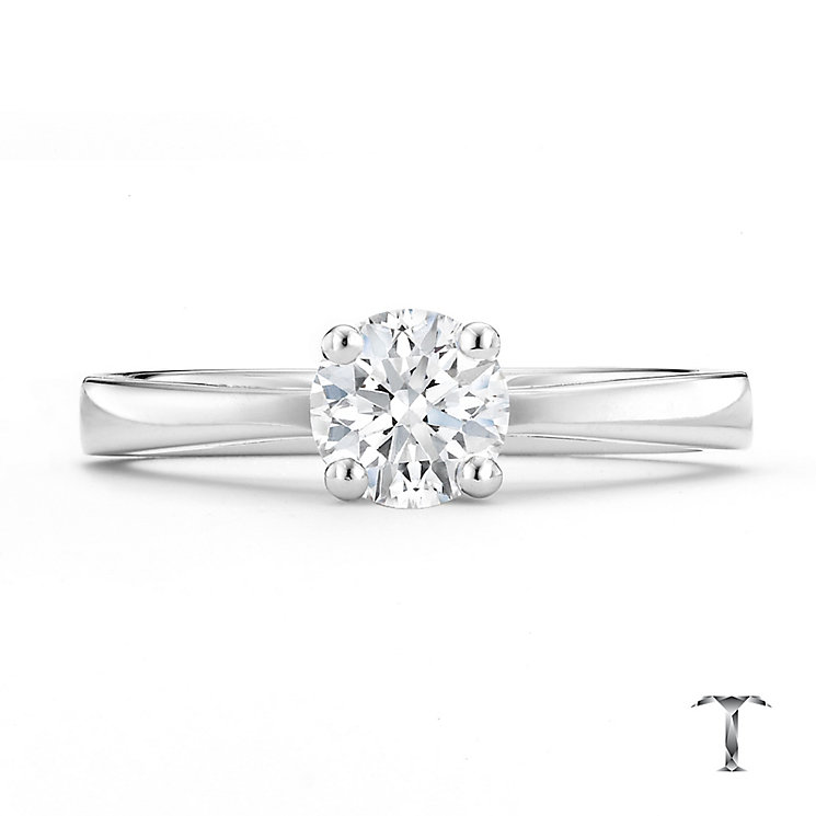 Tolkowsky 18ct white gold HI SI2 0.66ct diamond ring - Product number 8698007