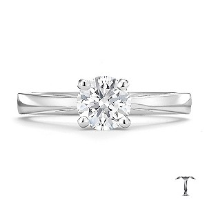 Tolkowsky 18ct white gold HI SI2 3/4 carat diamond ring - Product number 8698139