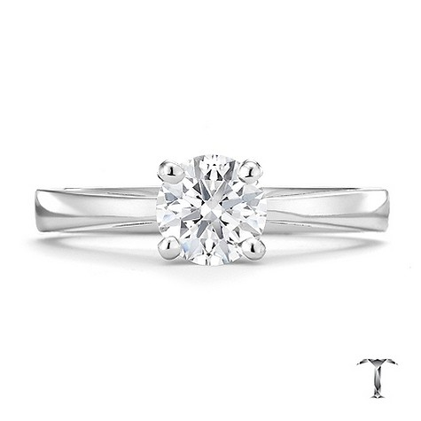 Tolkowsky 18ct white gold HI SI2 3/4 carat diamond ring