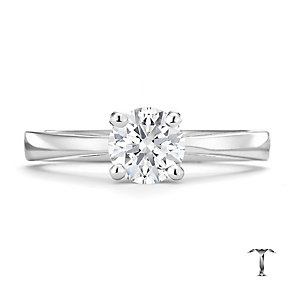 Tolkowsky 18ct white gold 0.75ct HI-SI2 diamond ring - Product number 8698139