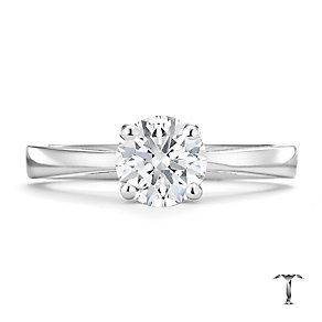 Tolkowsky 18ct white gold 1.00ct HI-SI2 diamond ring - Product number 8698287