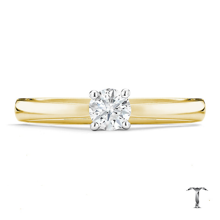 Tolkowsky 18ct yellow gold 0.25ct HI-SI2 diamond ring - Product number 8698414