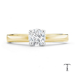 Tolkowsky 18ct yellow gold HI SI2 1/2 carat diamond ring - Product number 8698694