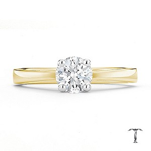 Tolkowsky 18ct yellow gold HI SI2 0.66ct diamond ring - Product number 8698813
