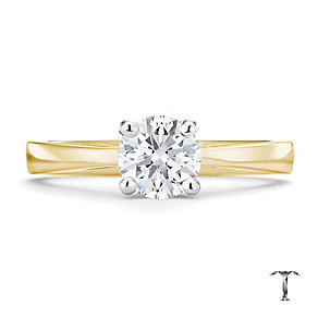 Tolkowsky 18ct yellow gold HI SI2 0.75ct diamond ring - Product number 8698953