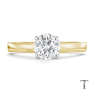 Tolkowsky 18ct yellow gold HI SI2 1 carat diamond ring - Product number 8699097